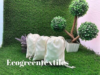 4x6 inches Double Drawstring Cotton Muslin Bags Nice QUALITY Choose Quantities