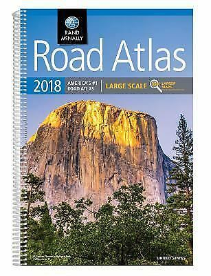 2018 Rand McNally Large Scale Road Atlas Atlases Maps Transportation