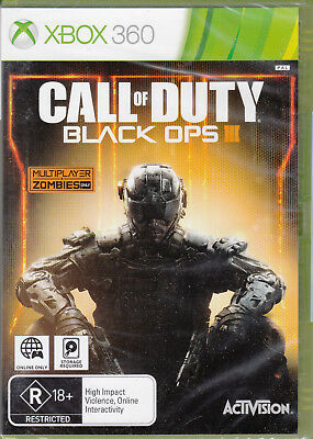 Call of Duty Black Ops 3 III Xbox 360 Brand New Sealed COD 3 Online