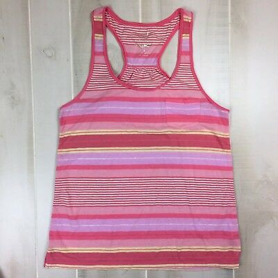 American Eagle Outfitters Womens Size L Large Racerback Tank Pink Yellow Purple