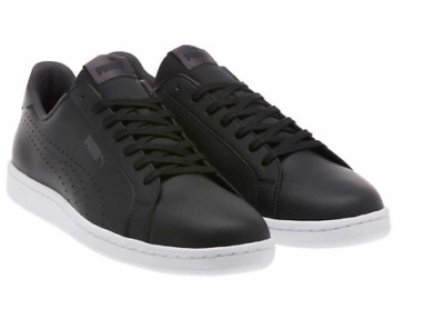 NEW PUMA Mens Leather Sneakers Smash Perf C Athletic Tennis Classic Shoes BLACK