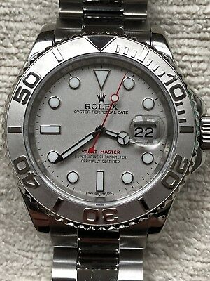 Rolex Yacht-Master Platinum 40mm 16622 Box - Papers 2 Year Warranty from Rolex