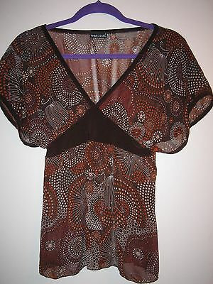 WOMENS BROWN WET SEAL BLOUSE SIZE SMALL