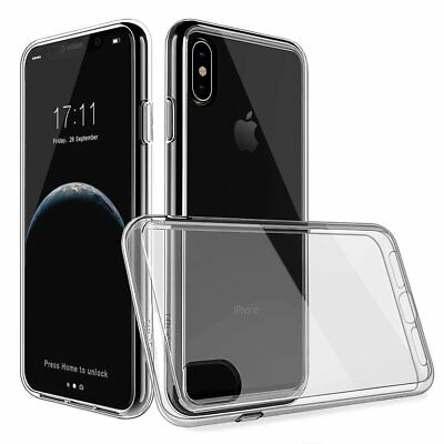 For Apple iPhone X Case Clear Hard Plastic Silicone Dual layer Cover Protective