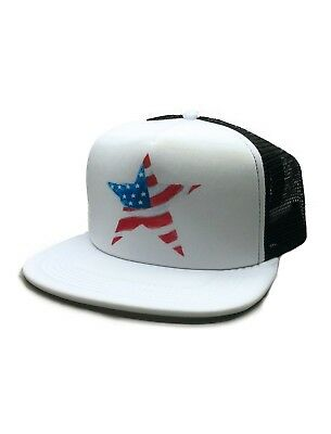 94-00 Water Color design USA Flag Cute 4th of July Independence Day Trucker hat