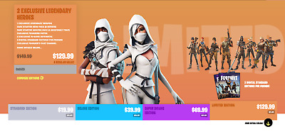 Fortnite Limited Edition Account With PVE PC PS4 Xbox
