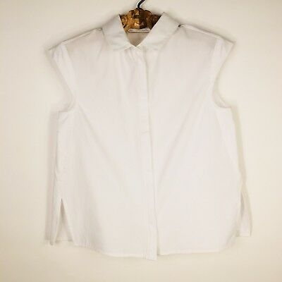 Zara Trafaluc XS white Sleeveless Shirt Button Up