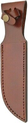 Brown Leather Belt Sheath For Straight Fixed Knife Up To 6 Blade SH1162