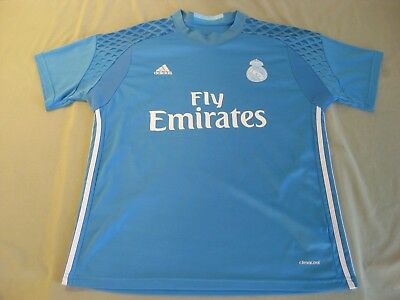 ADIDAS REAL MADRID SOCCER JERSEY JUVENTUD MENS LARGE BLUE
