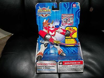 Digimon Fusion Shoutmon X4 Action Figure NEW LAST ONE FREE USA SHIPPING