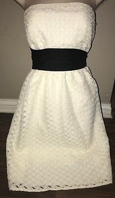 Ivory Lace Sheer Strapless Dress W Lining From Wet Seal Jrs Size Medium