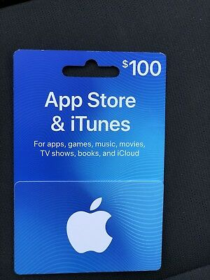 100 Apple iTunes Giftcard