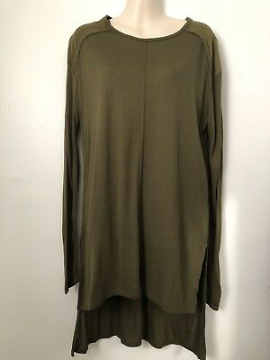 Zara Basic NWT Olive Green Tunic Top Shirt Size M