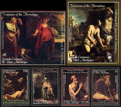 2003 HERMITAGE RUSSIA BIBLE PAINTINGS - 2 SS MNH RUBENS REMBRANDT TITIAN