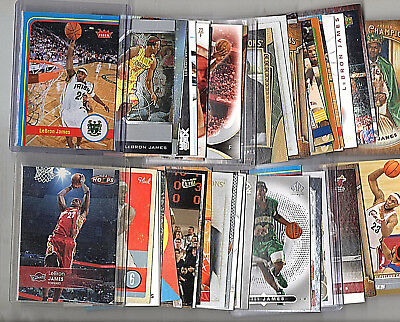 Lebron James 50 Card Lot Premiums 2004-05 Topps Finest -