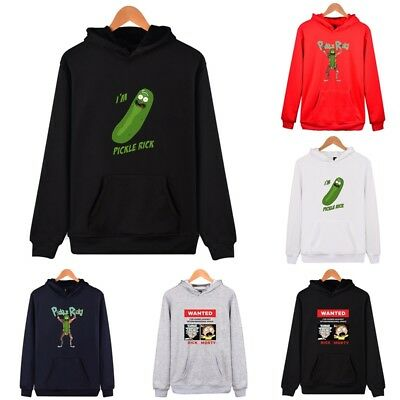 Rick and Morty Printed WomenMen Plain Hoodie Sweatshirt Pullover Hooded Jacket