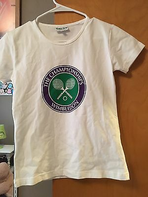 WIMBLEDON T-shirt Youth The Championships All England Lawn Tennis Croquet EUC