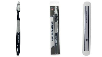 Dallas Cowboys Toothbrush and Travel Case NFL Football Licensed Product