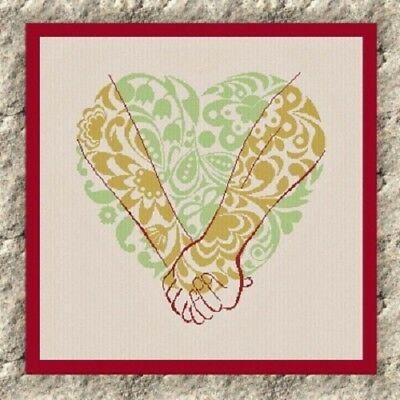 Forever Together Heart - AAN489 - Adelaide Needleworks - Cross Stitch Pattern