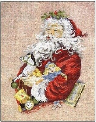 Santa and Toys by Permin Counted Cross-stitch Pattern