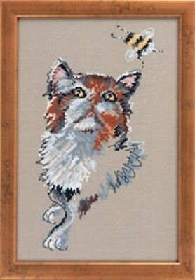 Cat with Bumblebee by Permin Counted Cross-stitch Pattern
