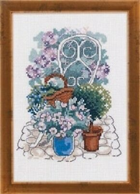 Chair in the Garden by Permin Counted Cross-stitch Pattern