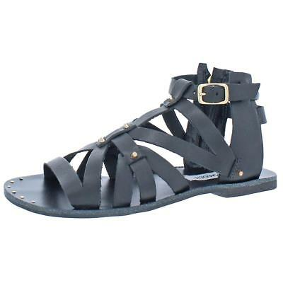 Steve Madden Womens Zeusss Strappy Flat Gladiator Sandals Shoes BHFO 1256