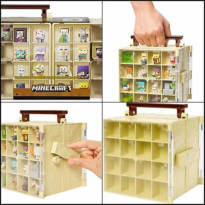 Mini Minecraft Collector Case Figure Storage Action Box Holds Accessory Toy New