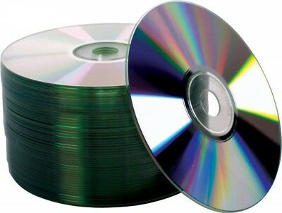 50 Pack 52X Silver Blank CD-R CDR Recordable Disc 80Min700MB