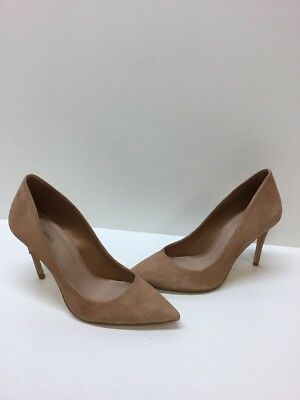 ALDO Brown Suede Pointy Toe Slip On Classic Heels Womens Size 6-5