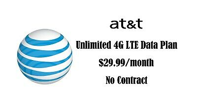 AT-T Unlimited 4G LTE Data Plan 29-99 Monthly No contract Phone hotspot