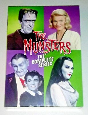 NEW THE MUNSTERS COMPLETE SERIES SEASONS 1-2- 12-DISC DVD BOX SET- SHIPS FREE