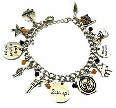 Broadways Hamilton Musical 11 Themed Charms Silvertone Charm Bracelet