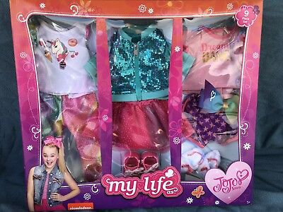 MY LIFE AS JOJO SIWA 9 PIECE 18 DOLL CLOTHES CLOTHING SET New In Box IN HAND