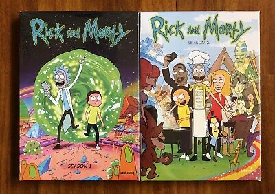 Rick and Morty 2 DVD Set Complete Seasons 1 and Seasons 2 Brand new