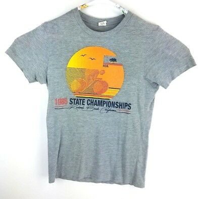 Hollister Co- Vintage T-Shirt 1985 State Championships HCO Biking Size Small EUC
