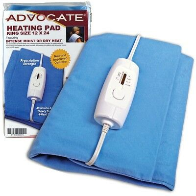 Advocate Extra Large King Size Heating Pad 12 x 24 Moist - Dry Heat