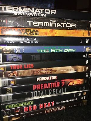 ARNOLD SCHWARZENEGGER Collection Lot • 14 DVD Movies Terminator Predator MORE-