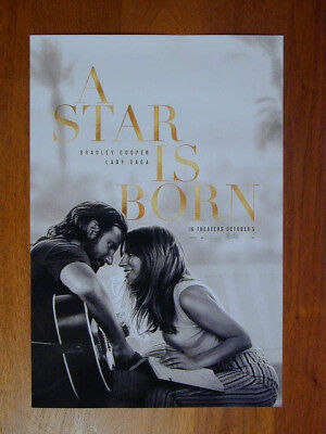 A STAR IS BORN 2018 MOVIE POSTER LADY GAGA BRADLEY COOPER 11 X 17 NEW ROLLED