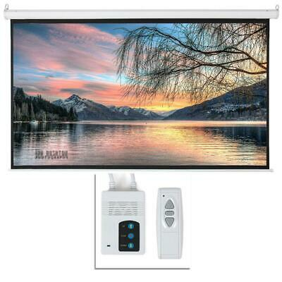 Leadzm 92 169 HD Foldable Electric Motorized Projector Screen - Remote White