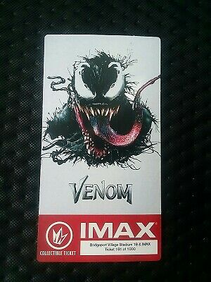 Marvel Venom IMAX Collectible Regal Ticket - Poster Code Tom Hardy