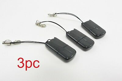 LOT of 3X Micro SD to USB Adapter Memory Card Reader Dongle Thumb Drive Stick
