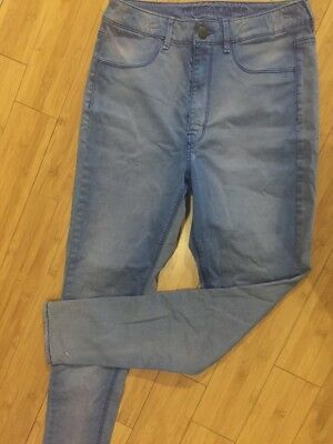 American Eagle Outfitters Womens Stretch Fit Purple Skinny Jeans - Size 8