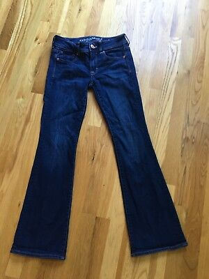 AMERICAN EAGLE OUTFITTERS Womens Kick Boot Jeans Size 2 short 2s Super Stretch