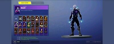 Rare fortnite skins Black night galaxy and season 1 Mako glider