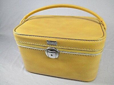 Vintage Amelia Earhart Train Case in Yellow - Excellent