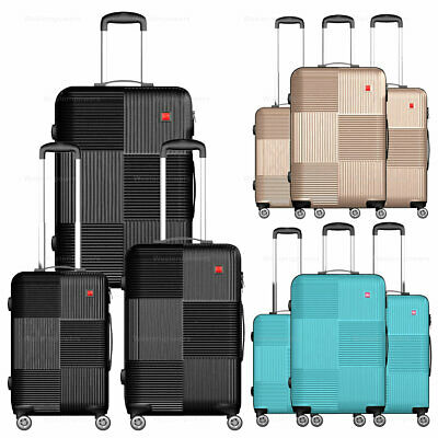 3-Piece Hardside Luggage Set with Spinner Wheels Lightweight 20 24 28