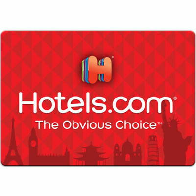 100 Hotels-com Physical Gift Card For Only 90- FREE 1st Class Mail Delivery