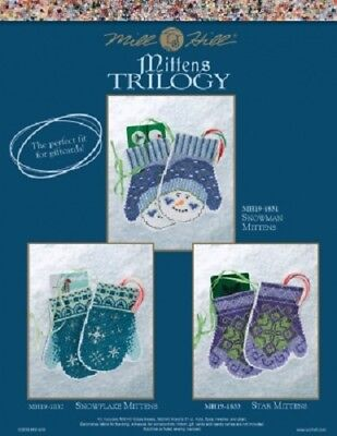Mill Hill Holiday Mittens Trilogy Bead and Stitch Kits - 3 Options to Choose