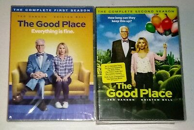BRAND NEW THE GOOD PLACE SEASONS 1 - 2 1 2- 4 DISC BUNDLED DVD SET- FREE SHIP